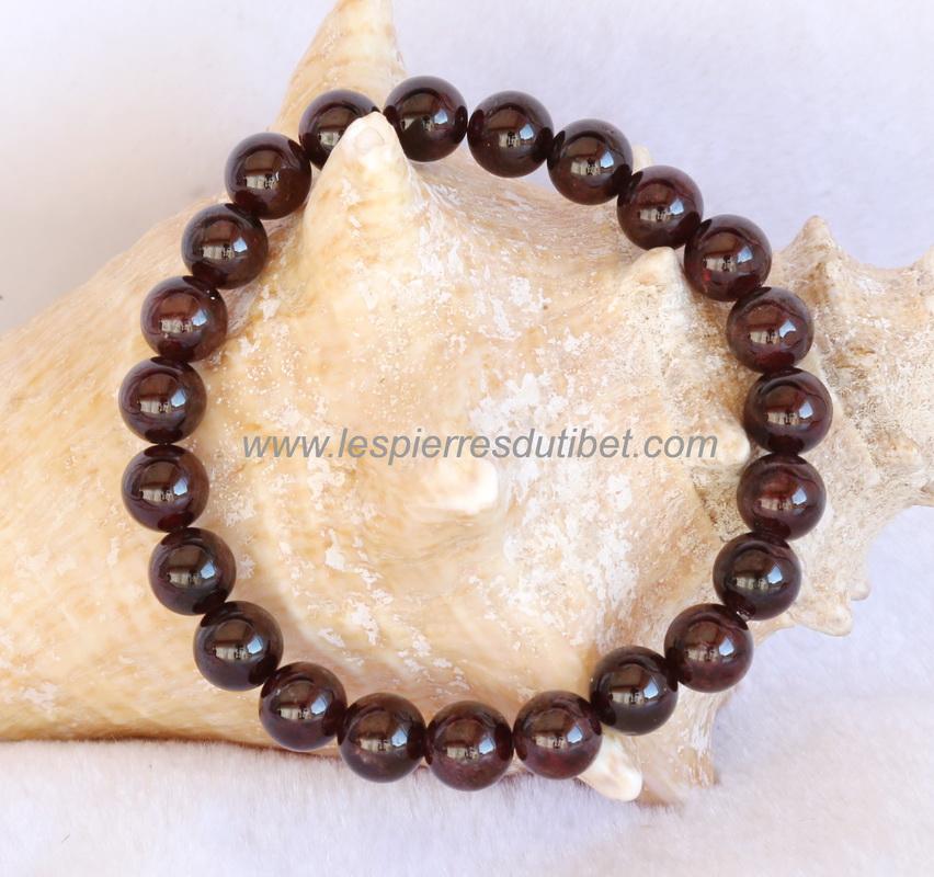 Découvrez top design Nouvelles Arrivées Bracelet Grenat perles 8mm