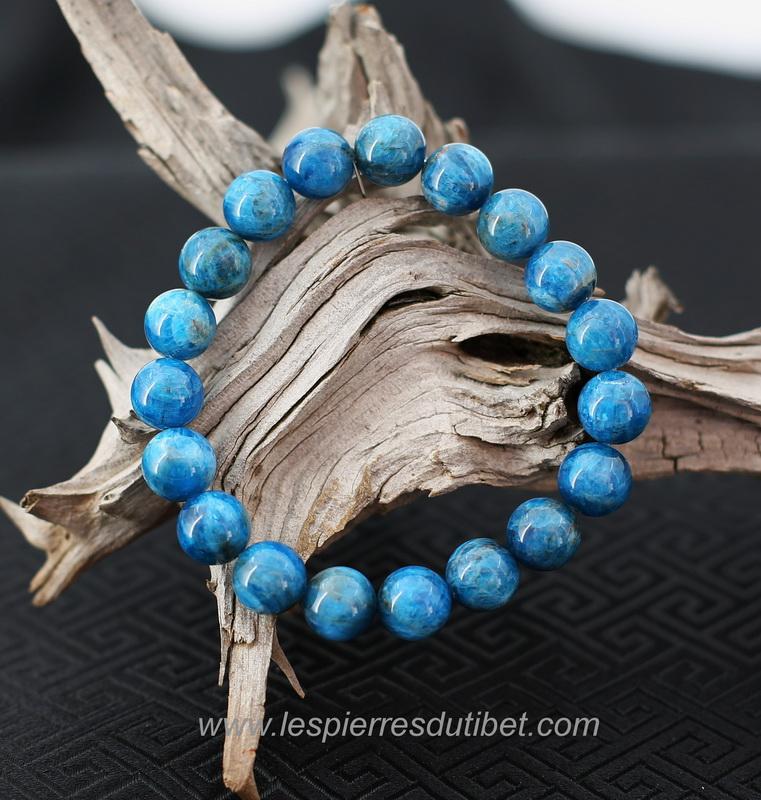 gros remise sélectionner pour authentique codes promo Bracelet Apatite bleue perles 10mm