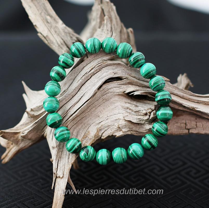magasiner pour le luxe prix favorable gamme complète de spécifications Bracelet Malachite Naturelle Perles 8mm