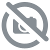 Bracelet Obsidienne Flocon des neiges perles 8mm